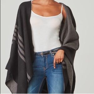 BB Dakota black/grey Poncho